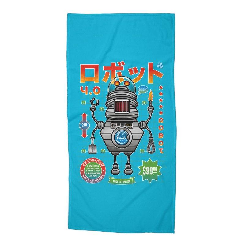 Robot 4.0 - Kitchen Edition Accessories Beach Towel by heavyhand's Artist Shop