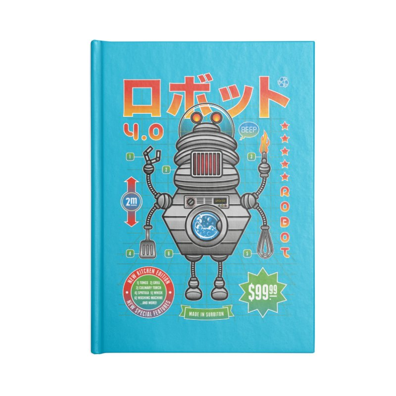 Robot 4.0 - Kitchen Edition Accessories Lined Journal Notebook by heavyhand's Artist Shop