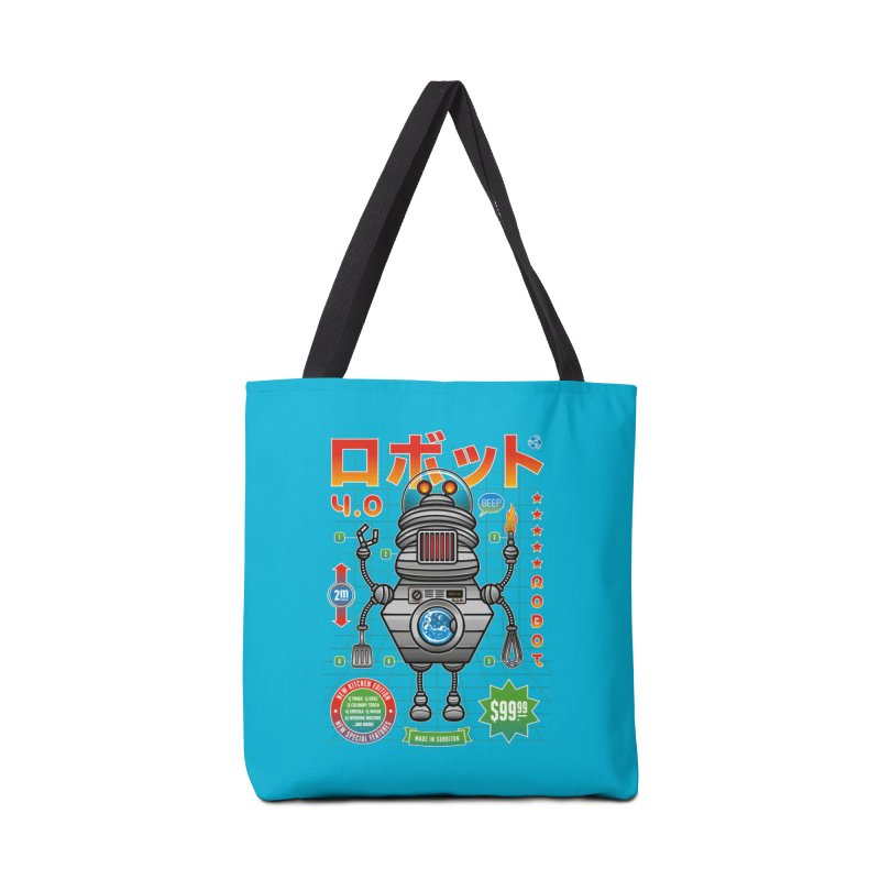 Robot 4.0 - Kitchen Edition Accessories Tote Bag Bag by heavyhand's Artist Shop