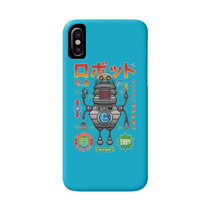 Robot 4.0 - Kitchen Edition Accessories Phone Case by heavyhand's Artist Shop