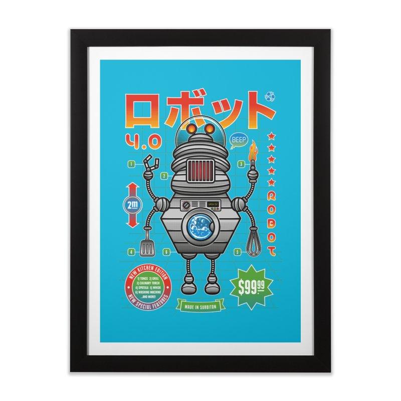 Robot 4.0 - Kitchen Edition Home Framed Fine Art Print by heavyhand's Artist Shop