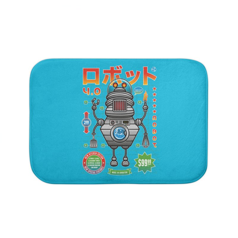 Robot 4.0 - Kitchen Edition Home Bath Mat by heavyhand's Artist Shop