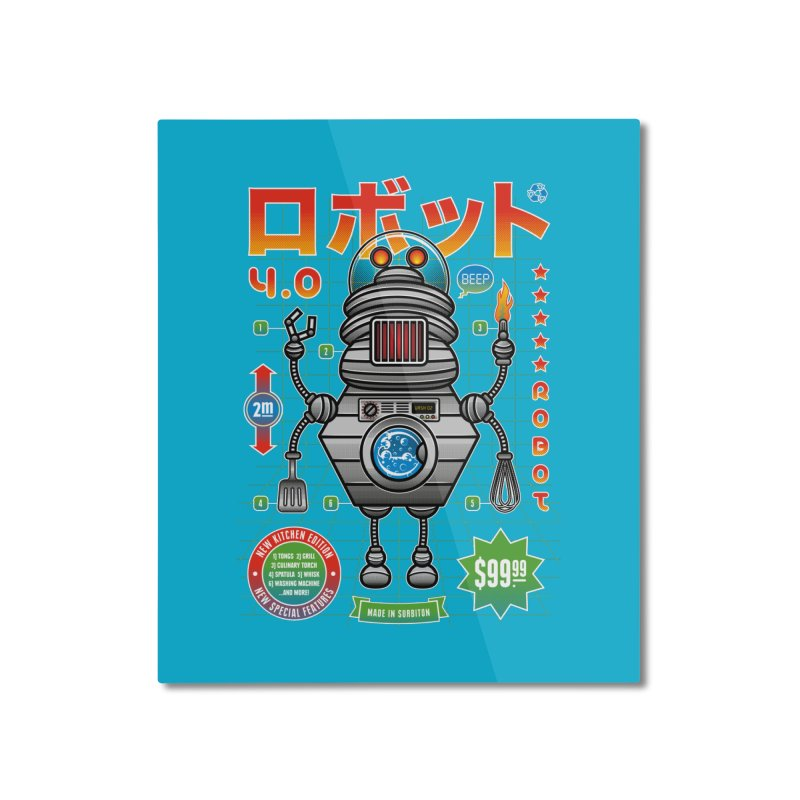 Robot 4.0 - Kitchen Edition Home Mounted Aluminum Print by heavyhand's Artist Shop