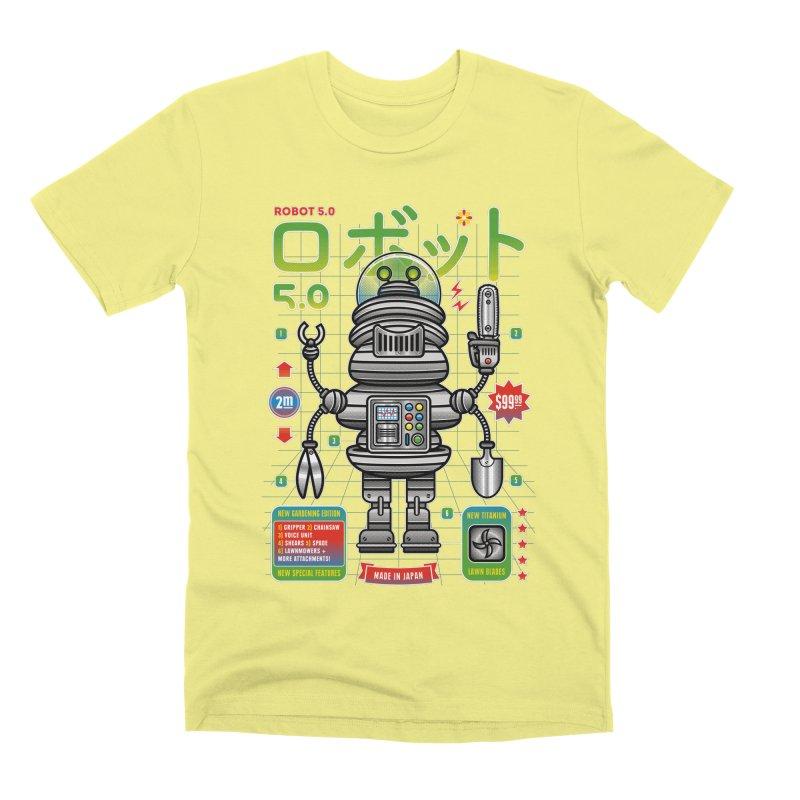 Robot 5.0 - Gardening Edition Men's Premium T-Shirt by heavyhand's Artist Shop