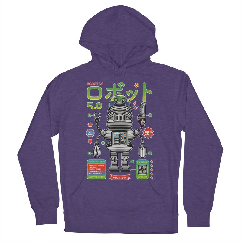 Robot 5.0 - Gardening Edition Women's French Terry Pullover Hoody by heavyhand's Artist Shop