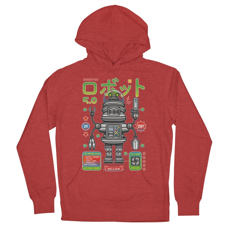 Robot 5.0 - Gardening Edition Men's French Terry Pullover Hoody by heavyhand's Artist Shop
