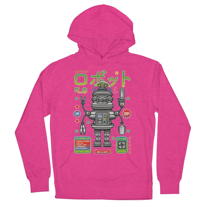 Robot 5.0 - Gardening Edition Men's Pullover Hoody by heavyhand's Artist Shop