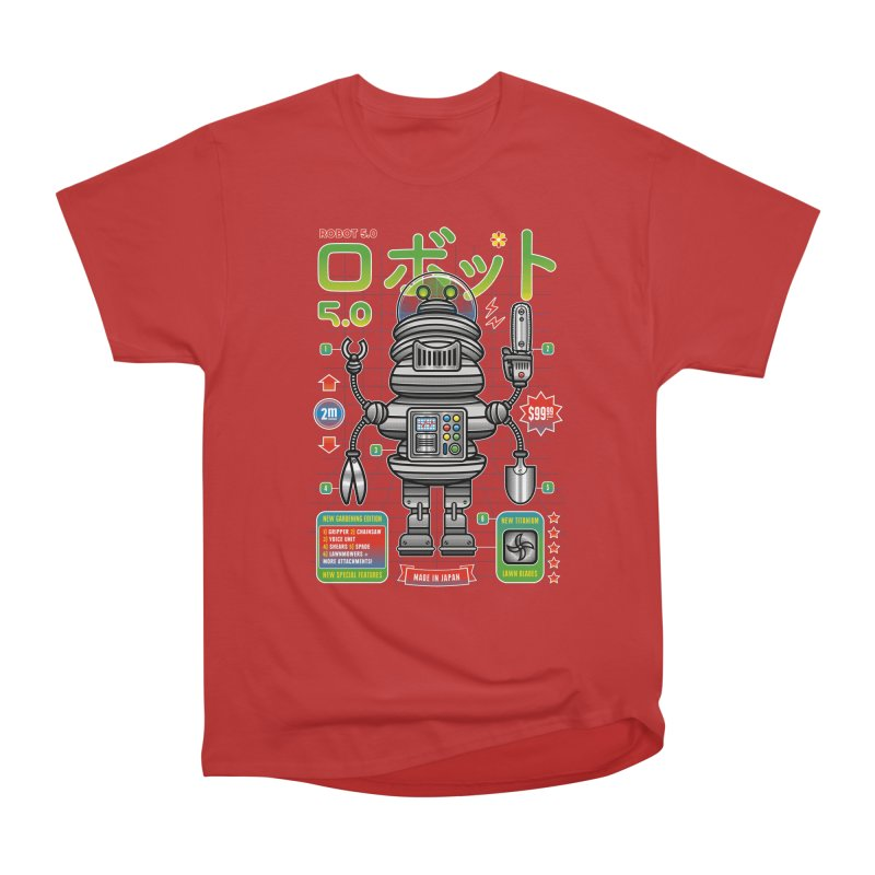 Robot 5.0 - Gardening Edition Women's Heavyweight Unisex T-Shirt by heavyhand's Artist Shop