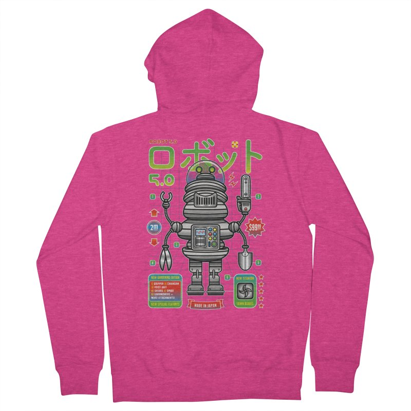 Robot 5.0 - Gardening Edition Women's French Terry Zip-Up Hoody by heavyhand's Artist Shop