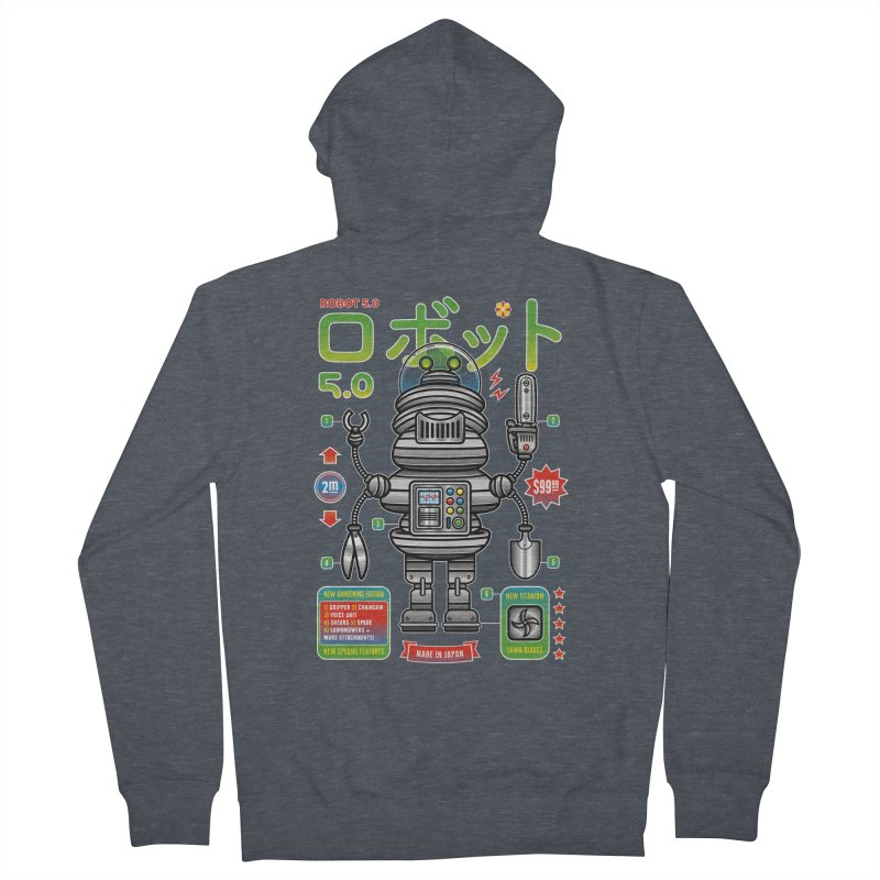Robot 5.0 - Gardening Edition Men's French Terry Zip-Up Hoody by heavyhand's Artist Shop