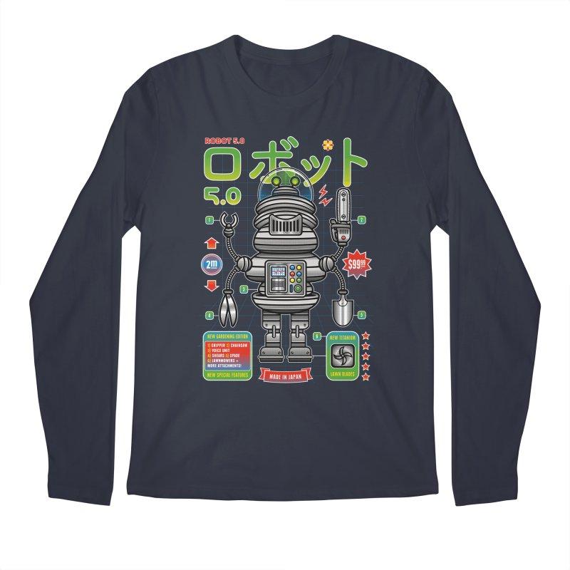 Robot 5.0 - Gardening Edition Men's Longsleeve T-Shirt by heavyhand's Artist Shop