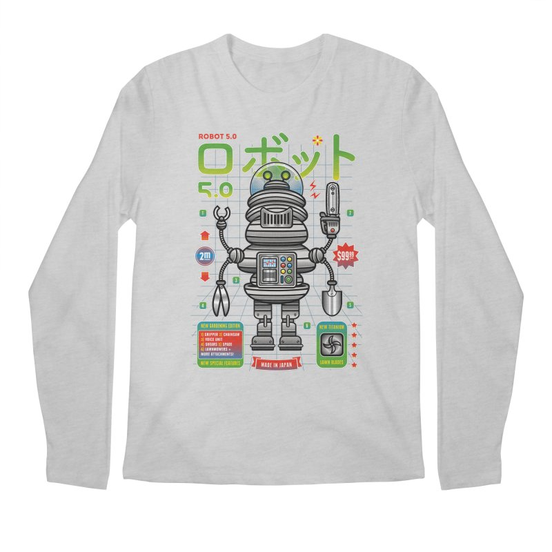 Robot 5.0 - Gardening Edition Men's Regular Longsleeve T-Shirt by heavyhand's Artist Shop