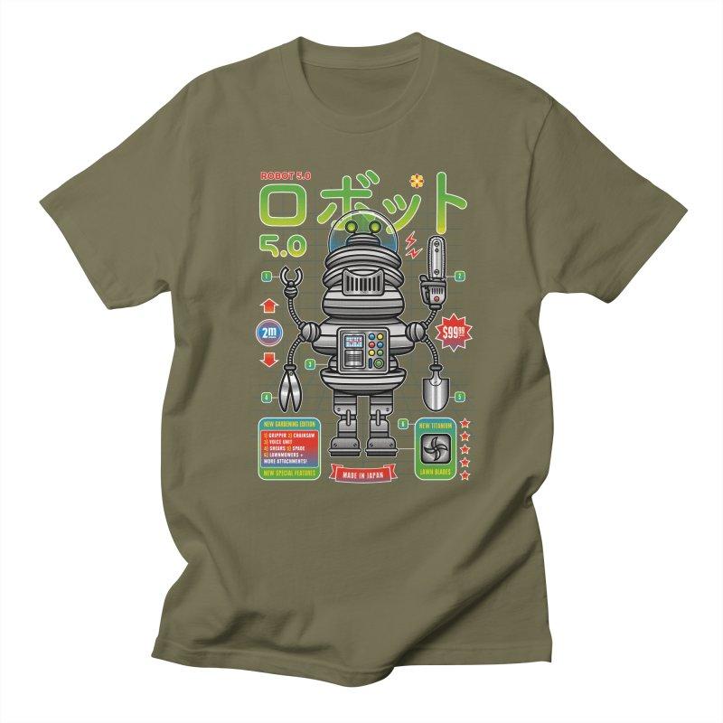 Robot 5.0 - Gardening Edition Women's Regular Unisex T-Shirt by heavyhand's Artist Shop