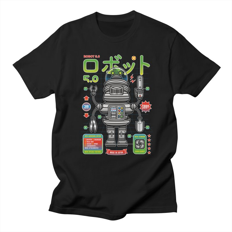 Robot 5.0 - Gardening Edition Men's Regular T-Shirt by heavyhand's Artist Shop