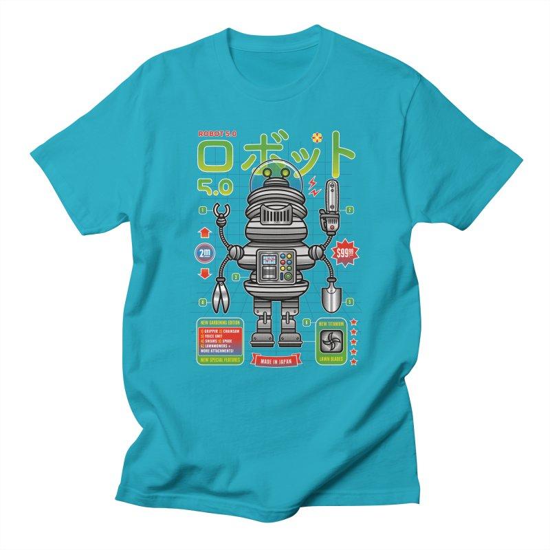 Robot 5.0 - Gardening Edition Men's T-Shirt by heavyhand's Artist Shop