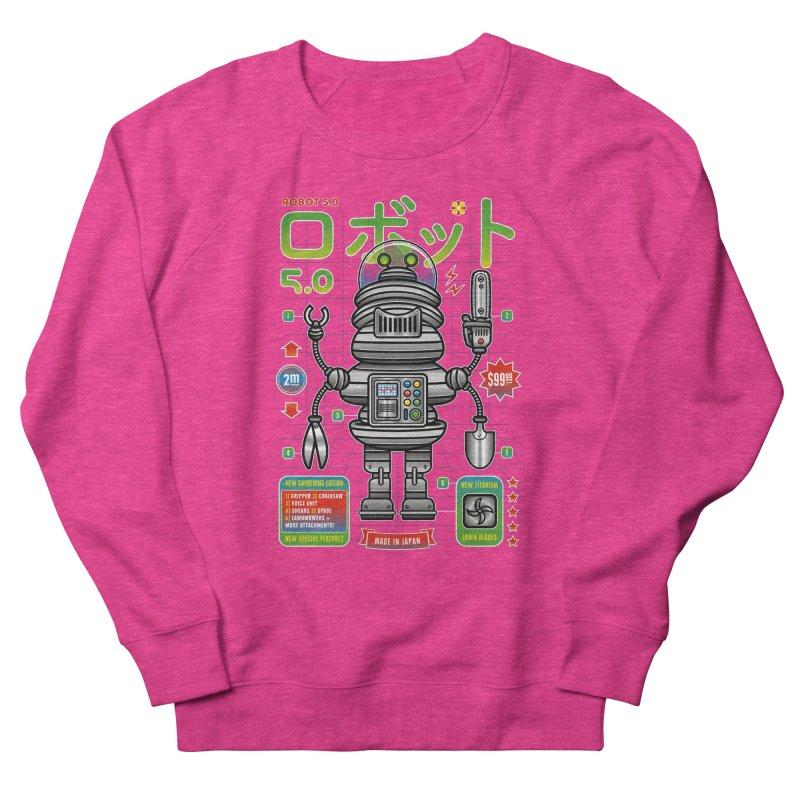 Robot 5.0 - Gardening Edition Women's Sweatshirt by heavyhand's Artist Shop