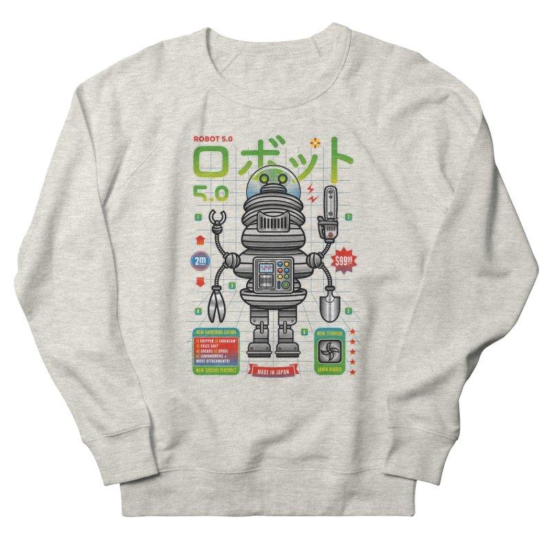 Robot 5.0 - Gardening Edition Men's French Terry Sweatshirt by heavyhand's Artist Shop