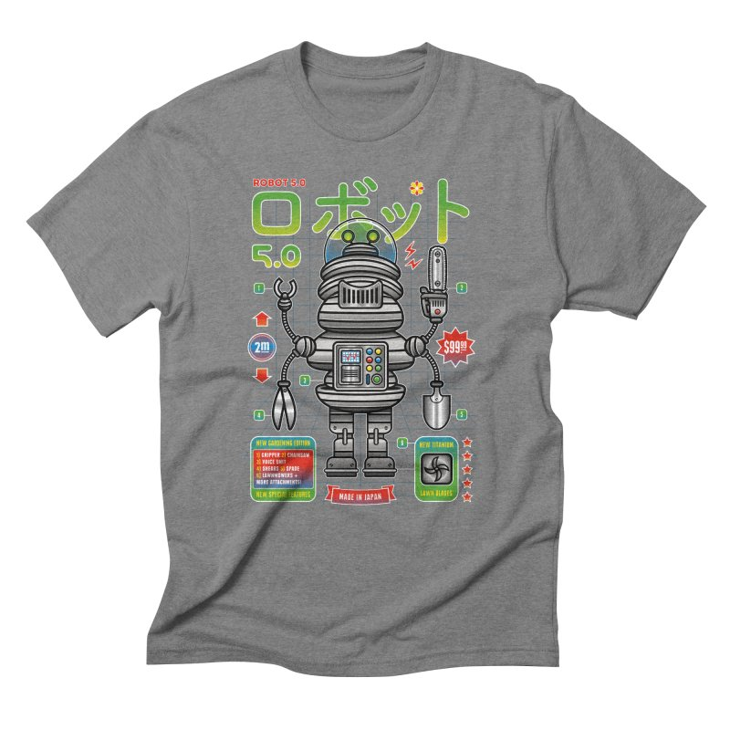 Robot 5.0 - Gardening Edition Men's Triblend T-Shirt by heavyhand's Artist Shop