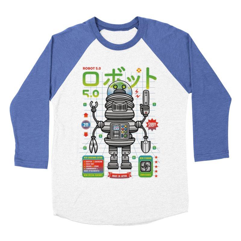 Robot 5.0 - Gardening Edition Women's Baseball Triblend Longsleeve T-Shirt by heavyhand's Artist Shop