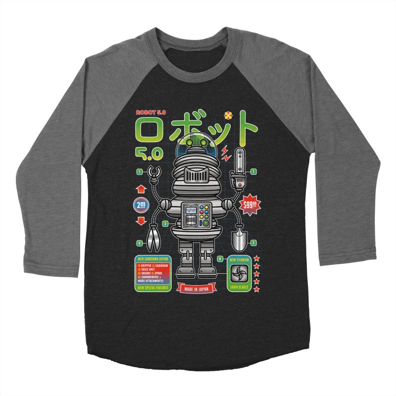 Robot 5.0 - Gardening Edition Women's Baseball Triblend Longsleeve T-Shirt by heavyhand's Artist Shop