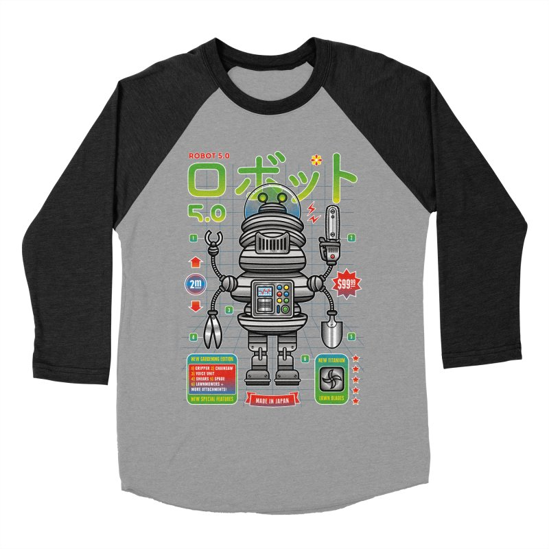 Robot 5.0 - Gardening Edition Men's Baseball Triblend Longsleeve T-Shirt by heavyhand's Artist Shop