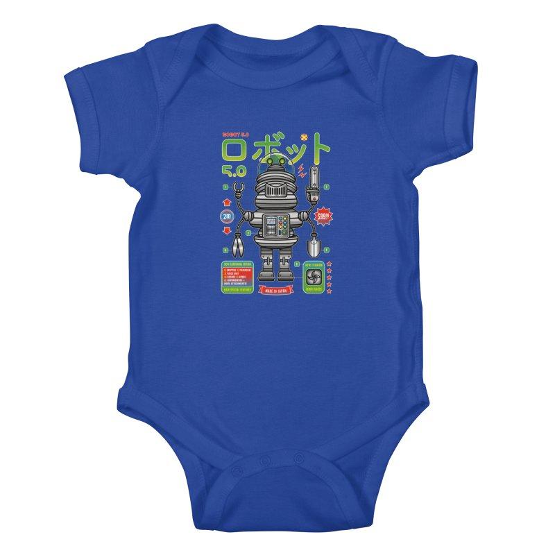 Robot 5.0 - Gardening Edition Kids Baby Bodysuit by heavyhand's Artist Shop
