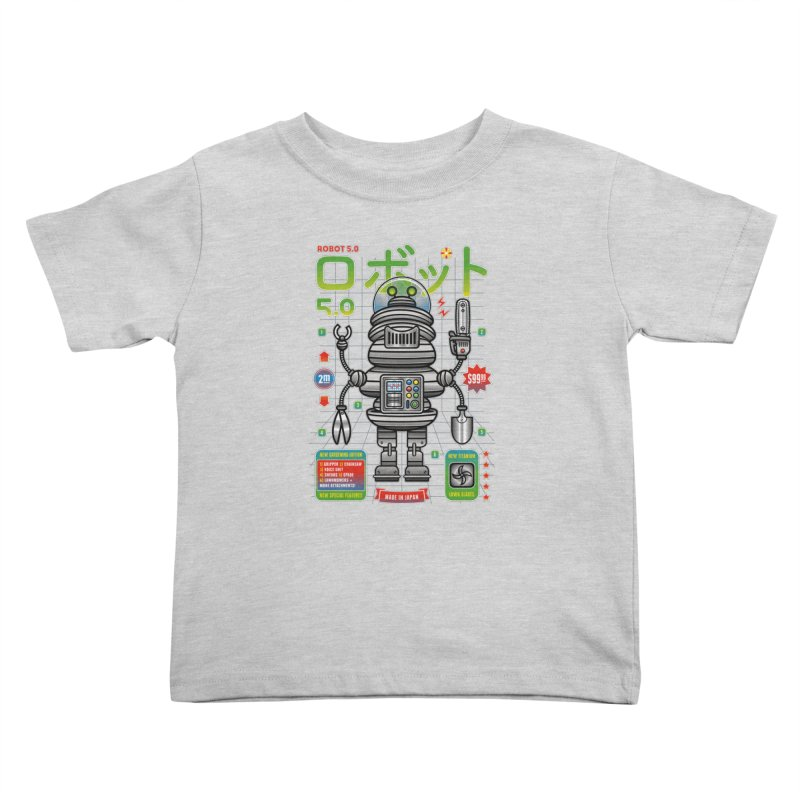 Robot 5.0 - Gardening Edition Kids Toddler T-Shirt by heavyhand's Artist Shop