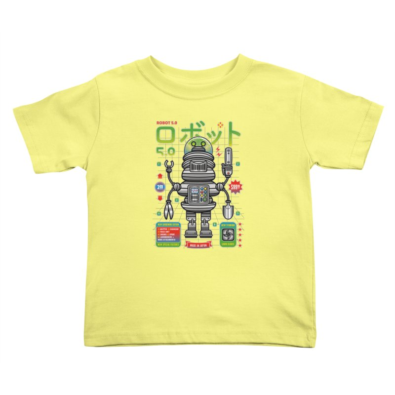 Robot 5.0 - Gardening Edition Kids Toddler T-Shirt by heavyhand's Artist Shop