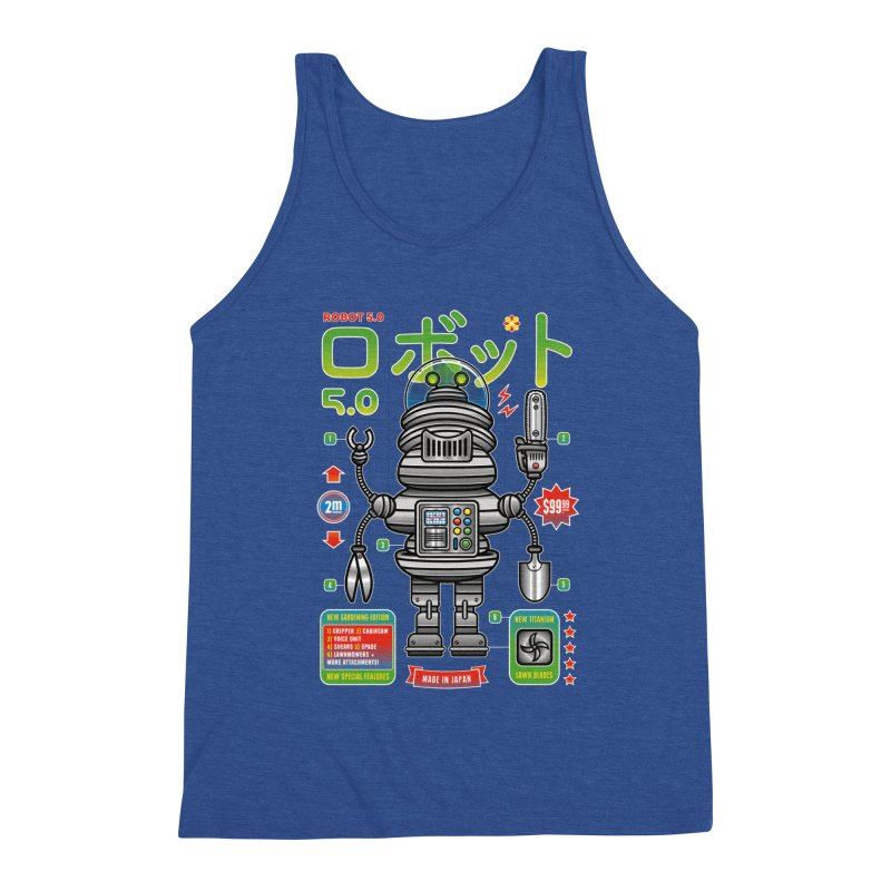 Robot 5.0 - Gardening Edition Men's Triblend Tank by heavyhand's Artist Shop