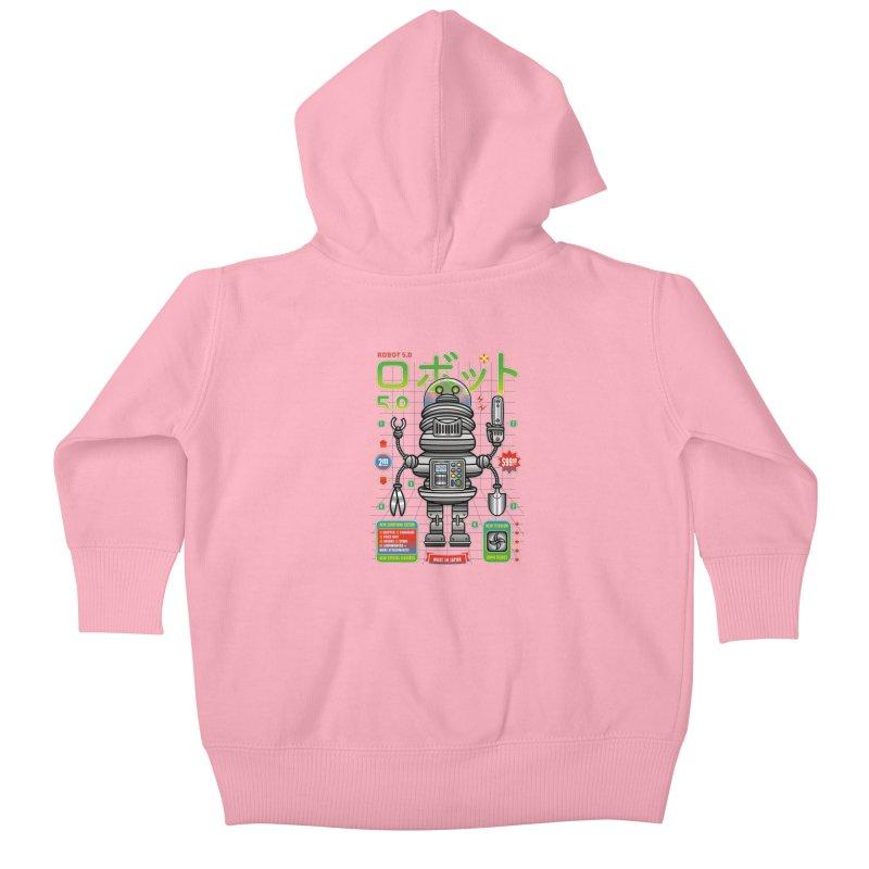 Robot 5.0 - Gardening Edition Kids Baby Zip-Up Hoody by heavyhand's Artist Shop