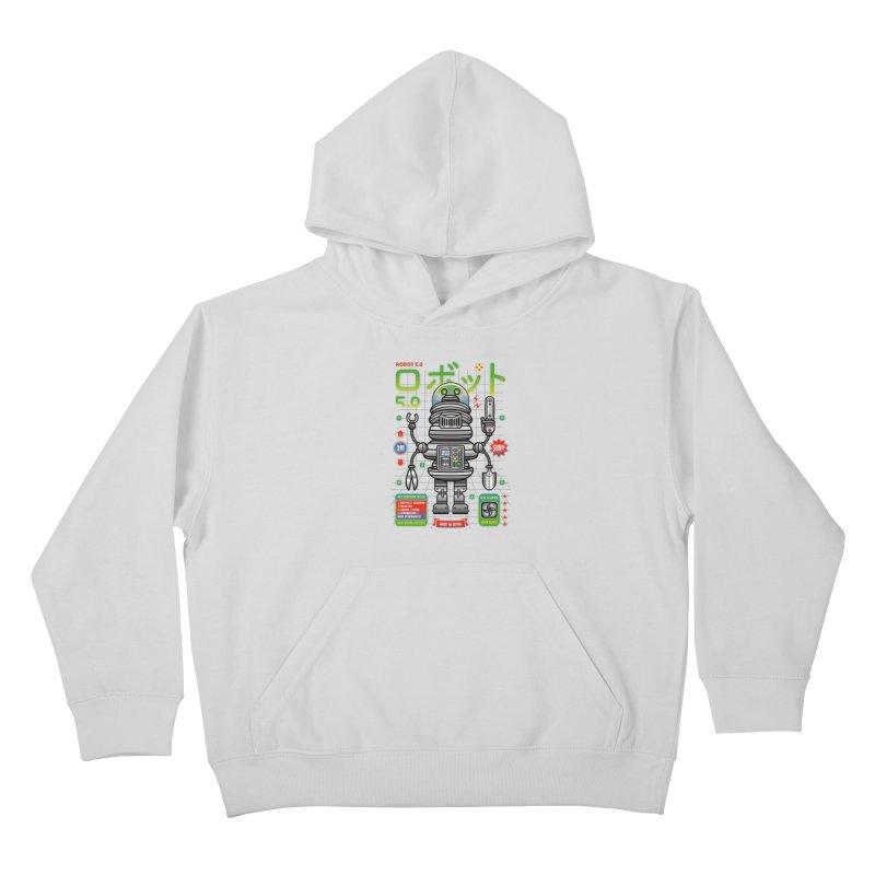 Robot 5.0 - Gardening Edition Kids Pullover Hoody by heavyhand's Artist Shop