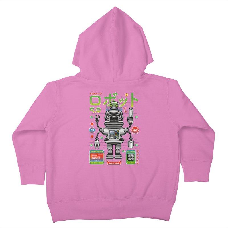 Robot 5.0 - Gardening Edition Kids Toddler Zip-Up Hoody by heavyhand's Artist Shop
