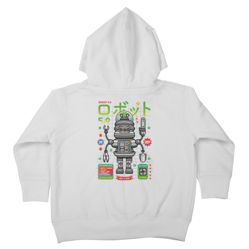 Robot 5.0 - Gardening Edition Kids Toddler Zip-Up Hoody by heavyhand's Artist Shop