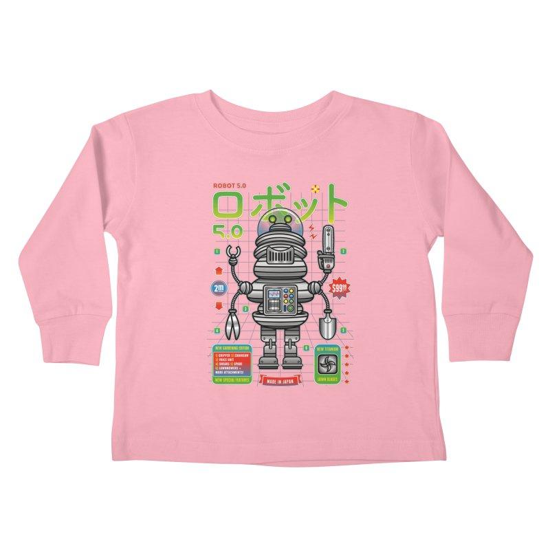 Robot 5.0 - Gardening Edition Kids Toddler Longsleeve T-Shirt by heavyhand's Artist Shop