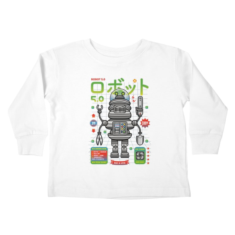Robot 5.0 - Gardening Edition Kids Toddler Longsleeve T-Shirt by heavyhand's Artist Shop