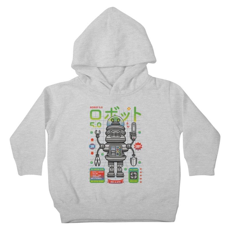 Robot 5.0 - Gardening Edition Kids Toddler Pullover Hoody by heavyhand's Artist Shop