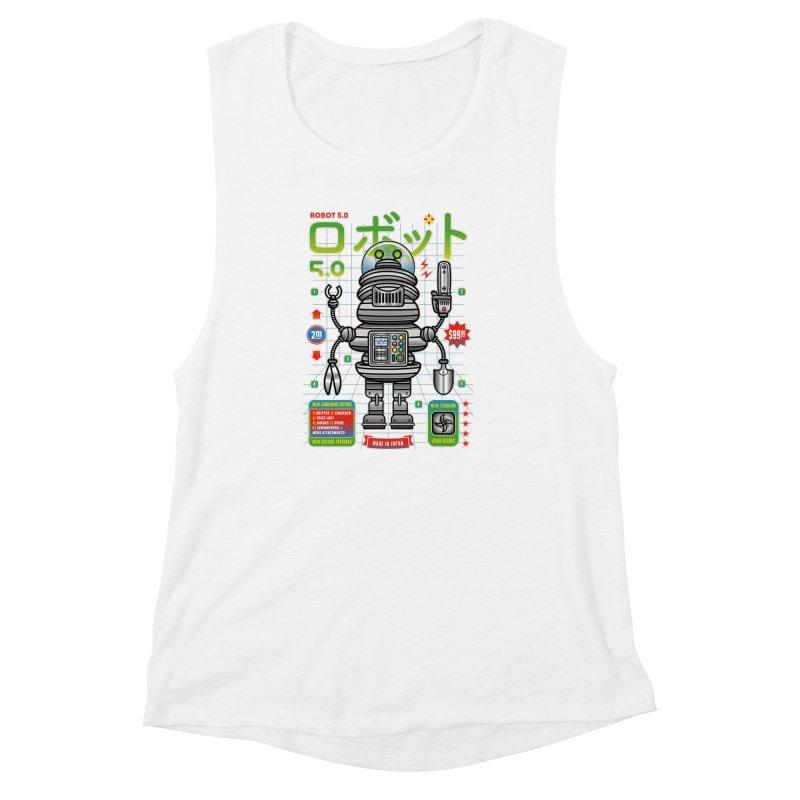 Robot 5.0 - Gardening Edition Women's Muscle Tank by heavyhand's Artist Shop