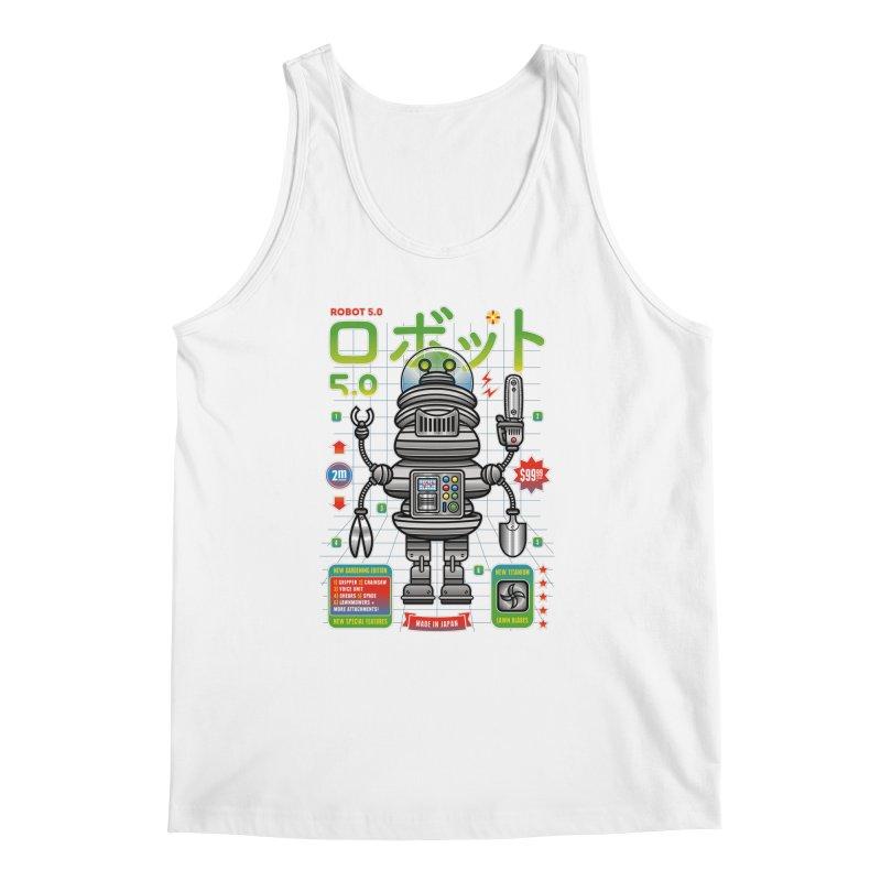 Robot 5.0 - Gardening Edition Men's Regular Tank by heavyhand's Artist Shop
