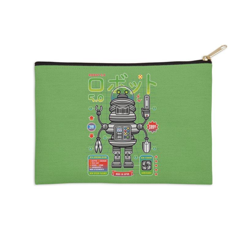 Robot 5.0 - Gardening Edition Accessories Zip Pouch by heavyhand's Artist Shop