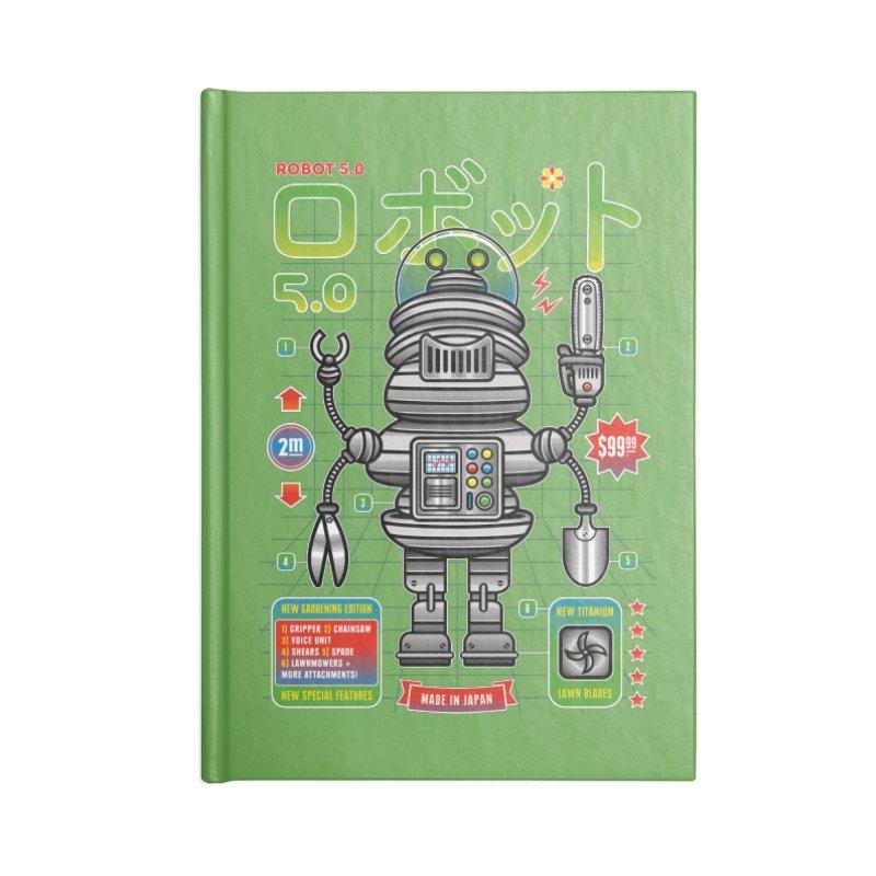 Robot 5.0 - Gardening Edition Accessories Lined Journal Notebook by heavyhand's Artist Shop