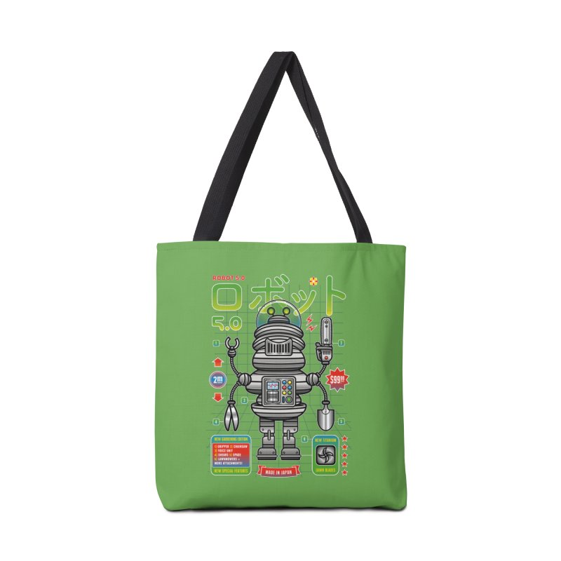 Robot 5.0 - Gardening Edition Accessories Bag by heavyhand's Artist Shop