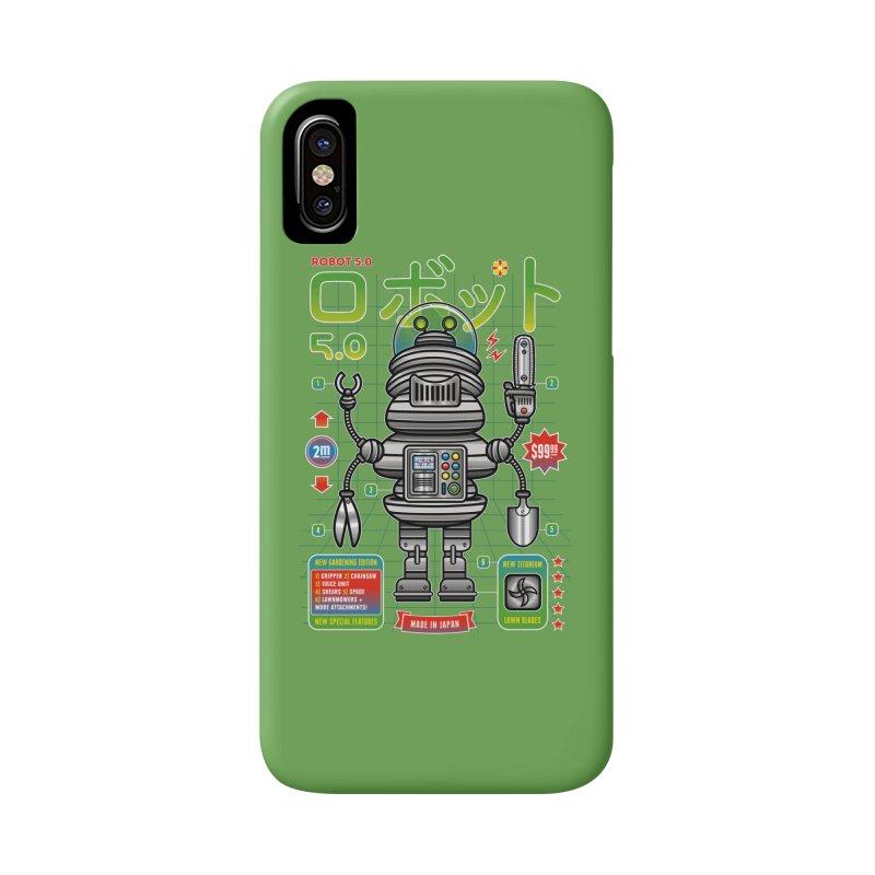 Robot 5.0 - Gardening Edition Accessories Phone Case by heavyhand's Artist Shop