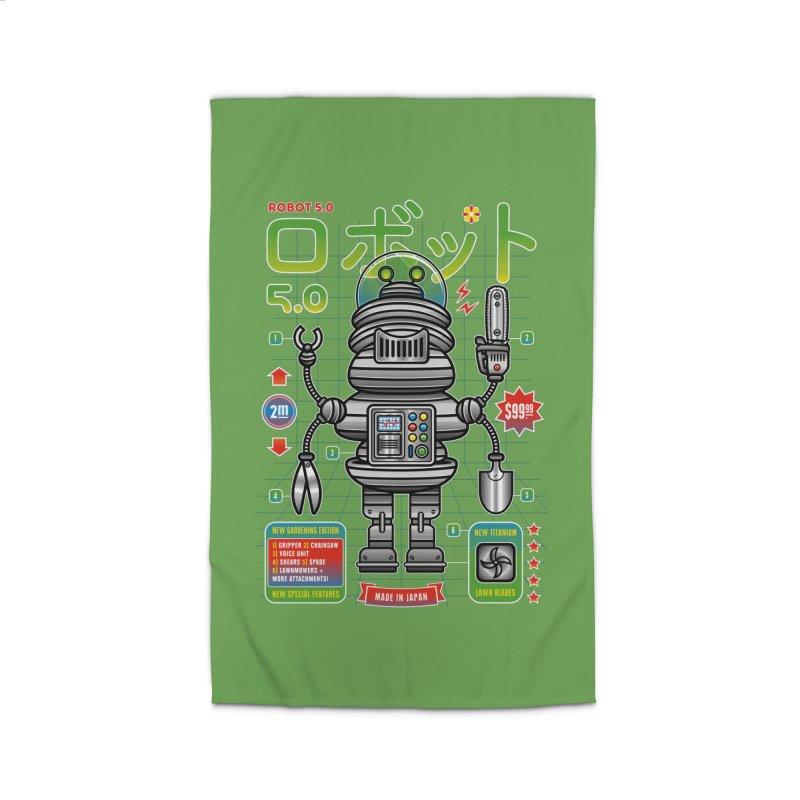 Robot 5.0 - Gardening Edition Home Rug by heavyhand's Artist Shop