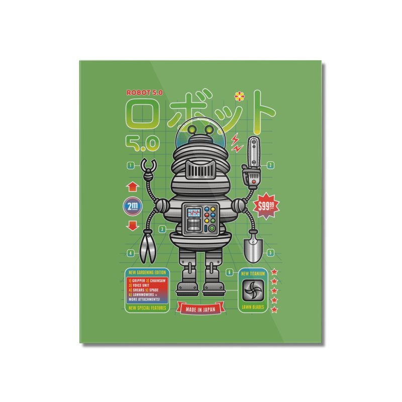 Robot 5.0 - Gardening Edition Home Mounted Acrylic Print by heavyhand's Artist Shop