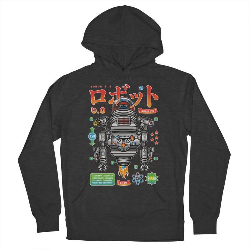 Robot 6.0 - Killbot Edition Men's French Terry Pullover Hoody by heavyhand's Artist Shop