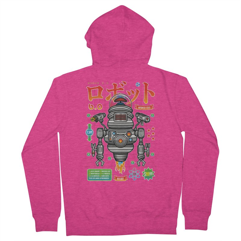 Robot 6.0 - Killbot Edition Women's French Terry Zip-Up Hoody by heavyhand's Artist Shop
