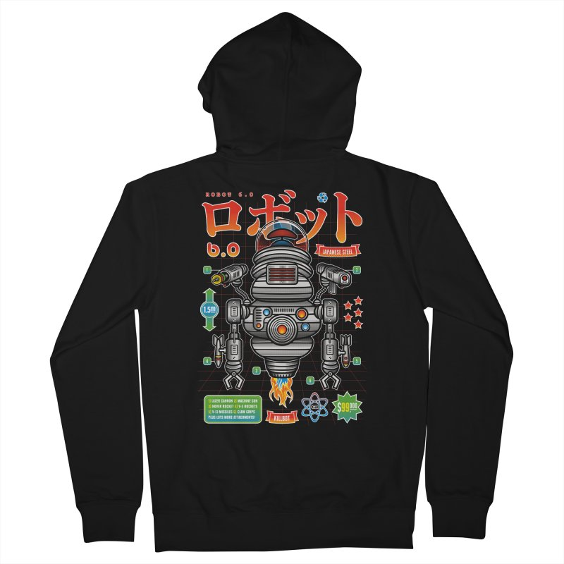 Robot 6.0 - Killbot Edition Men's French Terry Zip-Up Hoody by heavyhand's Artist Shop