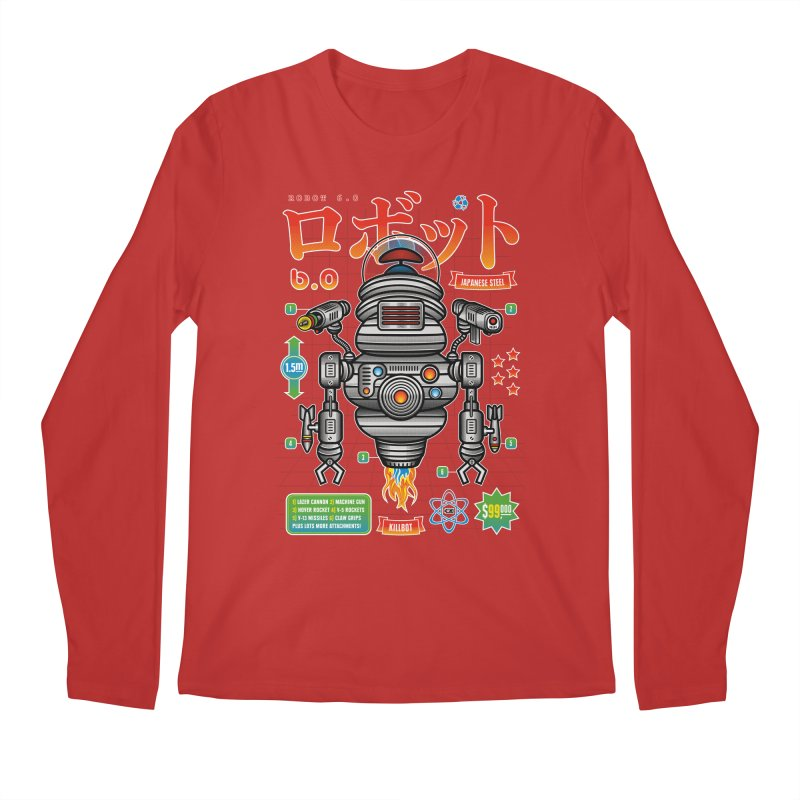 Robot 6.0 - Killbot Edition Men's Longsleeve T-Shirt by heavyhand's Artist Shop
