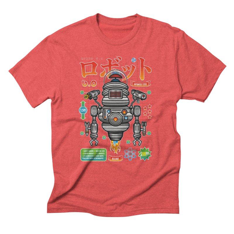 Robot 6.0 - Killbot Edition Men's Triblend T-Shirt by heavyhand's Artist Shop