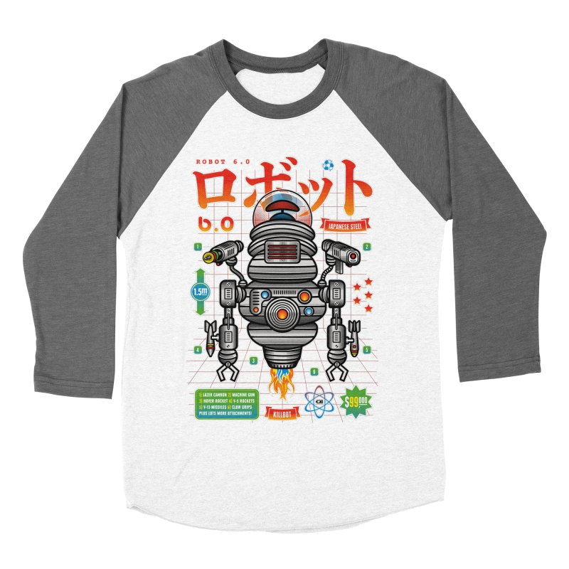 Robot 6.0 - Killbot Edition Women's Baseball Triblend Longsleeve T-Shirt by heavyhand's Artist Shop